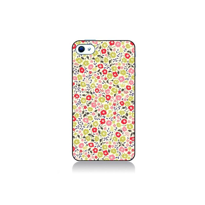 coque iphone 4 et 4s liberty fleurs nico