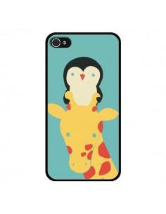 Coque Girafe Pingouin Meilleure Vue Better View pour iPhone 4 et 4S - Jay Fleck