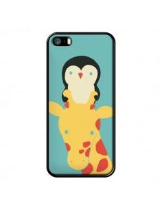 Coque Girafe Pingouin Meilleure Vue Better View pour iPhone 5 et 5S - Jay Fleck