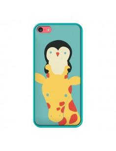 Coque Girafe Pingouin Meilleure Vue Better View pour iPhone 5C - Jay Fleck