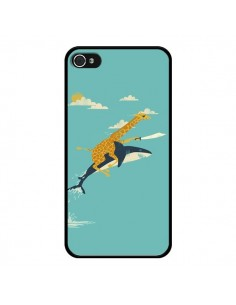 Coque Girafe Epee Requin Volant pour iPhone 4 et 4S - Jay Fleck