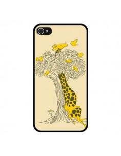 Coque Girafe Amis Oiseaux pour iPhone 4 et 4S - Jay Fleck