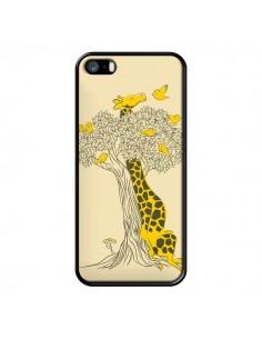 Coque Girafe Amis Oiseaux pour iPhone 5 et 5S - Jay Fleck