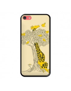 Coque Girafe Amis Oiseaux pour iPhone 5C - Jay Fleck
