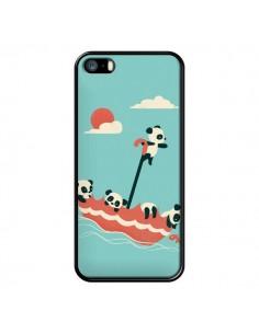 Coque Parapluie Flottant Panda pour iPhone 5 et 5S - Jay Fleck