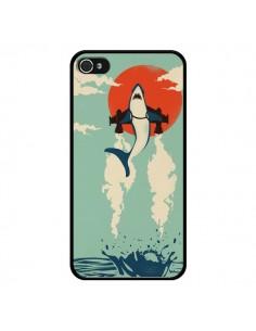 Coque Requin Avion Volant pour iPhone 4 et 4S - Jay Fleck