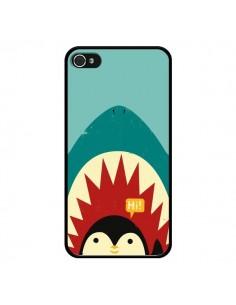 Coque Pingouin Requin pour iPhone 4 et 4S - Jay Fleck
