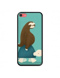 Coque Tortue Taxi Singe Slow Ride pour iPhone 5C - Jay Fleck