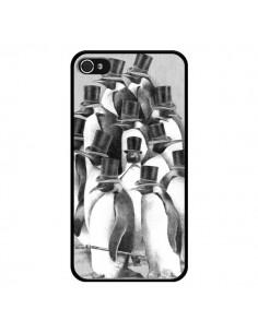 Coque Pingouins Gentlemen pour iPhone 4 et 4S - Eric Fan