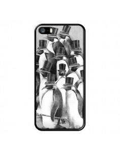 Coque Pingouins Gentlemen pour iPhone 5 et 5S - Eric Fan