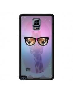 Coque Girafe Geek à Lunettes pour Samsung Galaxy Note 4 - Aurelie Scour