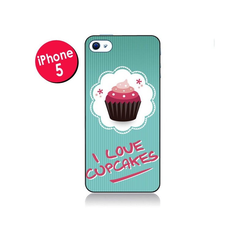 Coque Love Cupcake pour iPhone 5