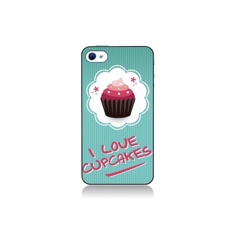 Coque Love Cupcake pour iPhone 4 et 4S