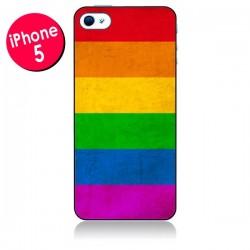 Coque Drapeau Arc En Ciel Gay pour iPhone 5/5S et SE - Nico