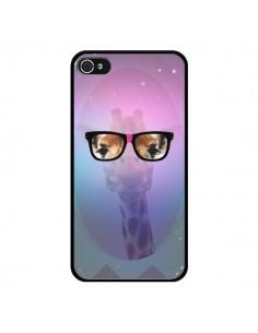 Coque Girafe Geek à Lunettes pour iPhone 4 et 4S - Aurelie Scour