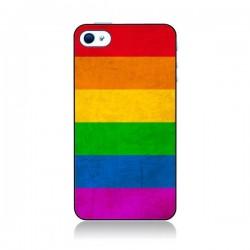 Coque Drapeau Arc En Ciel Gay pour iPhone 4 et 4S