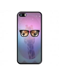 Coque Girafe Geek à Lunettes pour iPhone 5 et 5S - Aurelie Scour