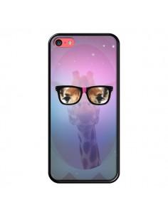 Coque Girafe Geek à Lunettes pour iPhone 5C - Aurelie Scour