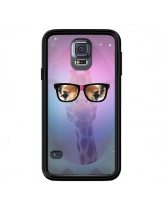 Coque Girafe Geek à Lunettes pour Samsung Galaxy S5 - Aurelie Scour