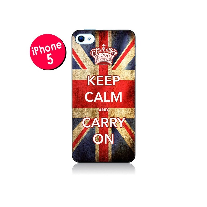 Coque Keep Calm and Carry On pour iPhone 5