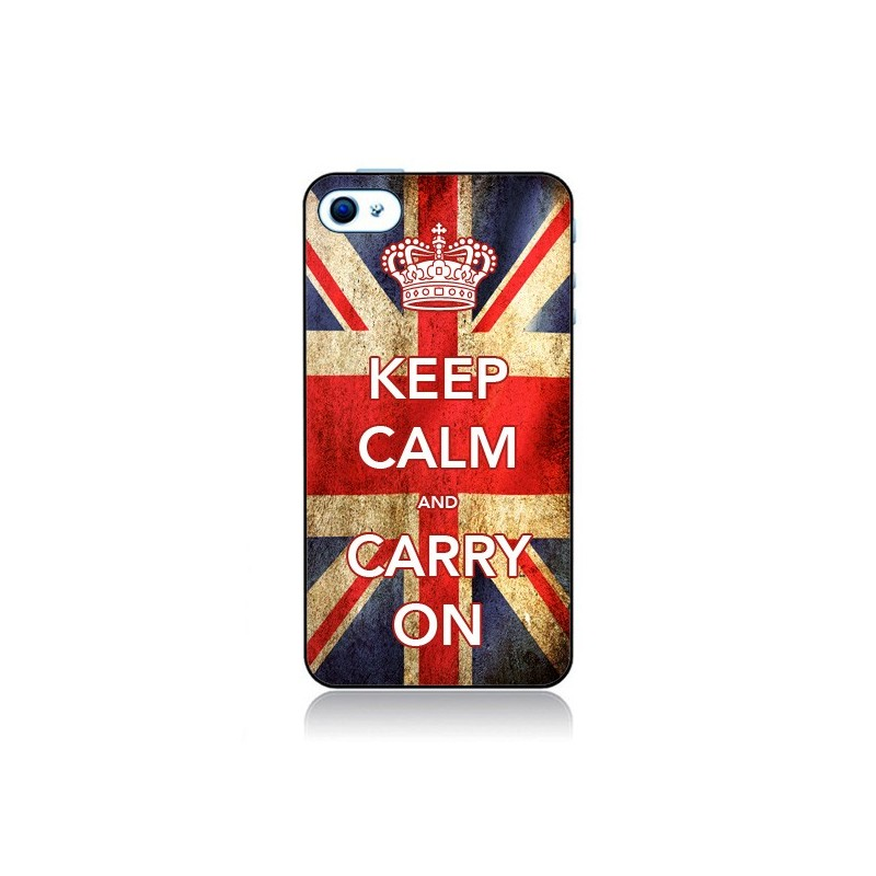 Coque Keep Calm and Carry On pour iPhone 4 et 4S