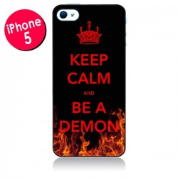 Coque Keep Calm and Be A Demon pour iPhone 5/5S et SE - Nico