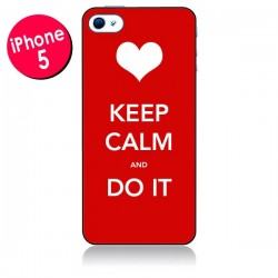 Coque Keep Calm and Do It pour iPhone 5