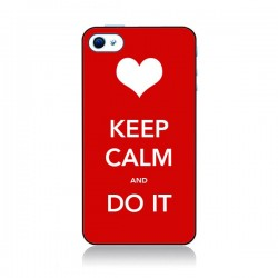 Coque Keep Calm and Do It pour iPhone 4 et 4S - Nico