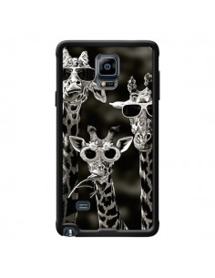 Coque Girafe Swag Lunettes Familiy Giraffe pour Samsung Galaxy Note 4 - Asano Yamazaki