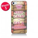 Coque Keep Calm and Eat A Macaron pour iPhone 5
