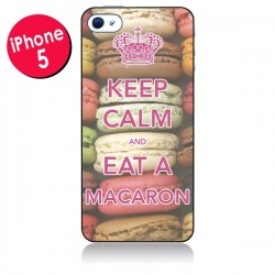 Coque Keep Calm and Eat A Macaron pour iPhone 5/5S et SE - Nico