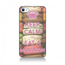 Coque Keep Calm and Eat A Macaron pour iPhone 4 et 4S