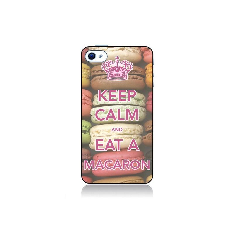 Coque Keep Calm and Eat A Macaron pour iPhone 4 et 4S