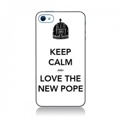 Coque Keep Calm and Love The New Pope Blanche pour iPhone 4 et 4S