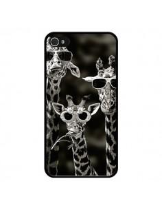 Coque Girafe Swag Lunettes Familiy Giraffe pour iPhone 4 et 4S - Asano Yamazaki