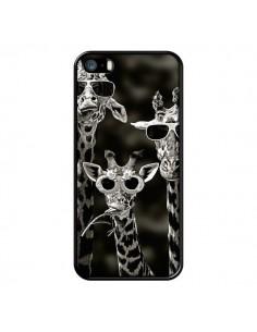 Coque Girafe Swag Lunettes Familiy Giraffe pour iPhone 5 et 5S - Asano Yamazaki
