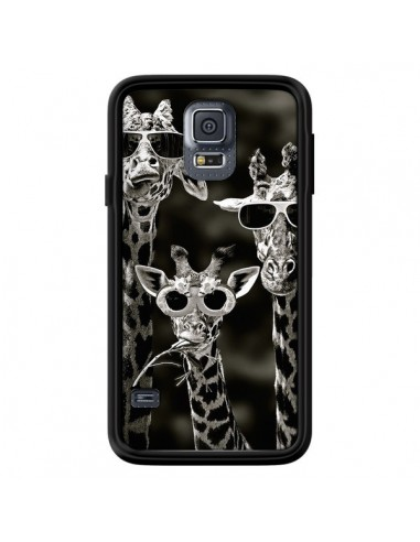 Coque Girafe Swag Lunettes Familiy Giraffe pour Samsung Galaxy S5 - Asano Yamazaki