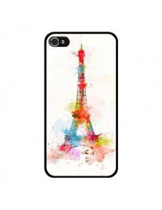 Coque Paris Tour Eiffel Muticolore pour iPhone 4 et 4S - Asano Yamazaki
