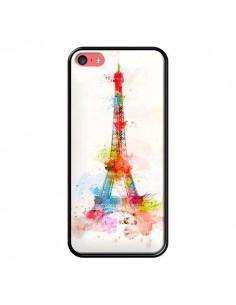 Coque Paris Tour Eiffel Muticolore pour iPhone 5C - Asano Yamazaki