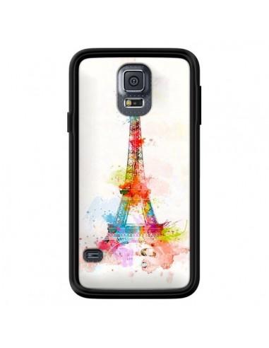 Coque Paris Tour Eiffel Muticolore pour Samsung Galaxy S5 - Asano Yamazaki
