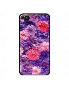 Coque Fleurs Violettes Flower Storm pour iPhone 4 et 4S - Asano Yamazaki