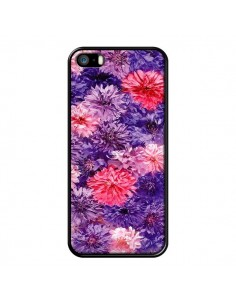 Coque Fleurs Violettes Flower Storm pour iPhone 5 et 5S - Asano Yamazaki