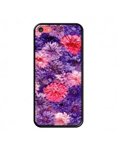 Coque Fleurs Violettes Flower Storm pour iPhone 5C - Asano Yamazaki