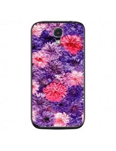 Coque Fleurs Violettes Flower Storm pour Samsung Galaxy S4 - Asano Yamazaki