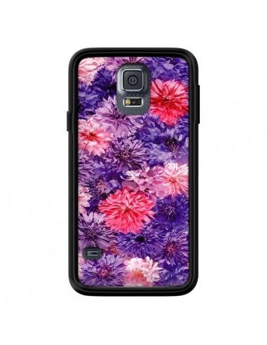 Coque Fleurs Violettes Flower Storm pour Samsung Galaxy S5 - Asano Yamazaki