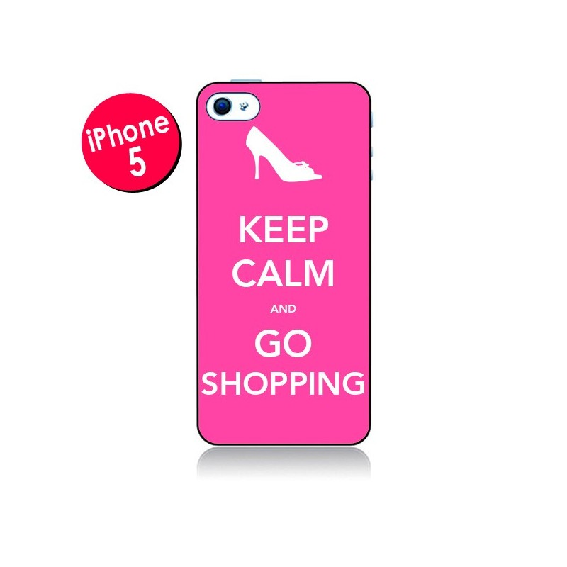 Coque Keep Calm and Go Shopping pour iPhone 5