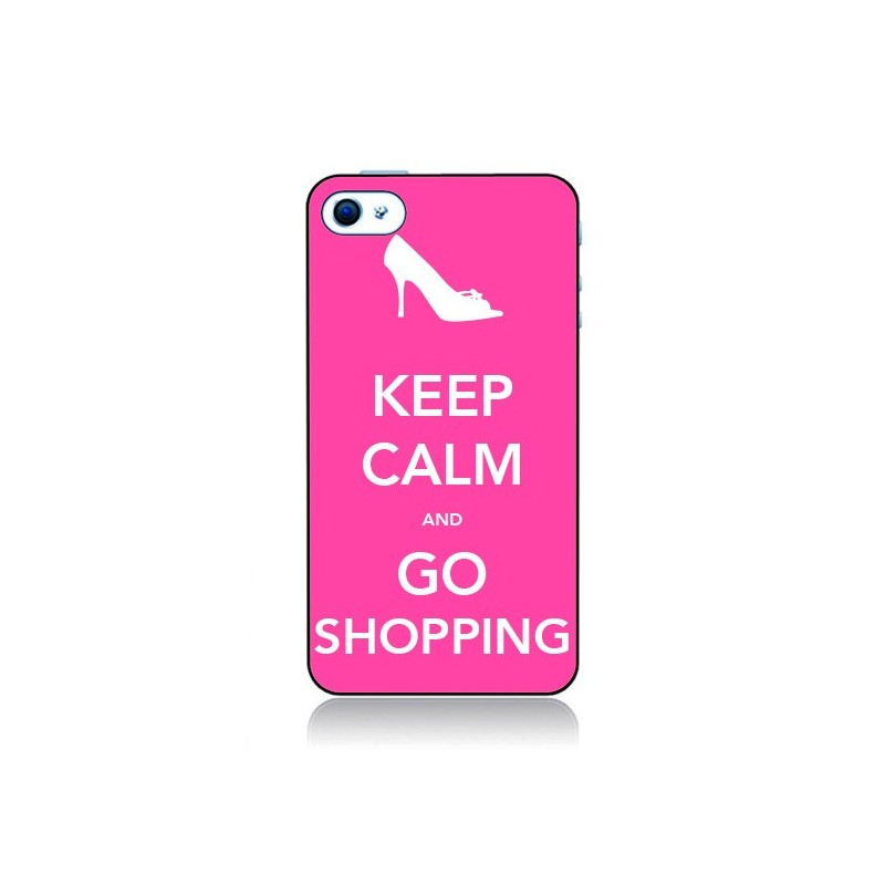 Coque Keep Calm and Go Shopping pour iPhone 4 et 4S