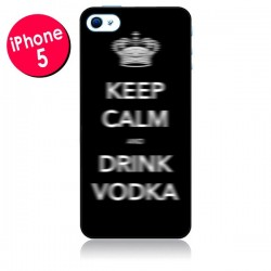 Coque Keep Calm and Drink Vodka pour iPhone 5