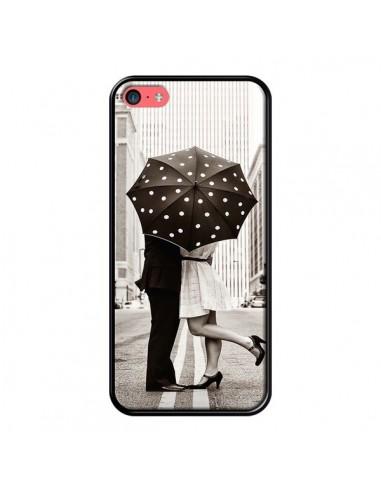 Coque iPhone 5C Secret under Umbrella Amour Couple Love - Asano Yamazaki
