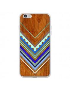 Coque Azteque Arbutus Blue Bois Aztec Tribal pour iPhone 6 Plus - Jenny Mhairi